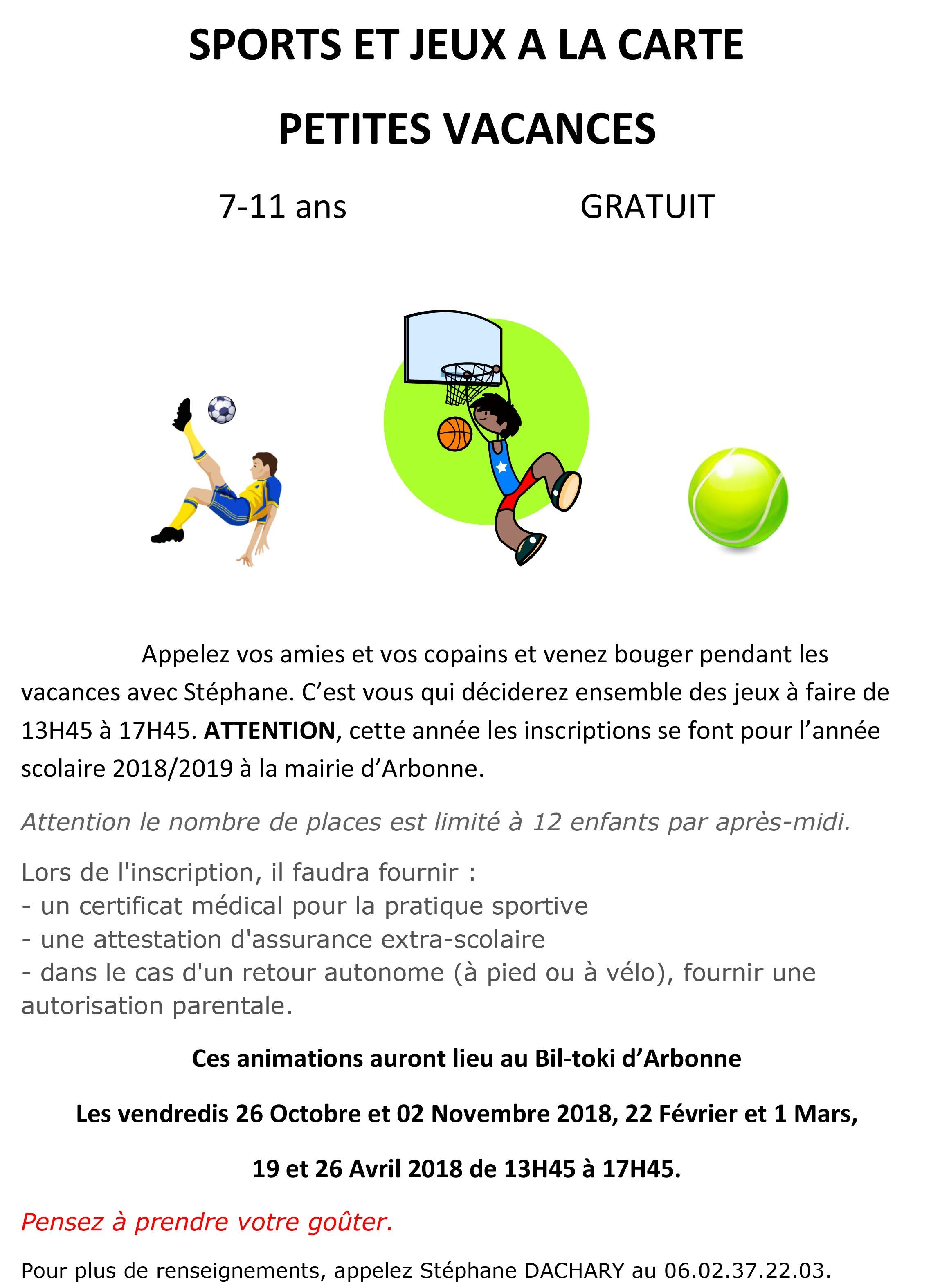 Activités Des Petites Vacances Mairie Darbonne